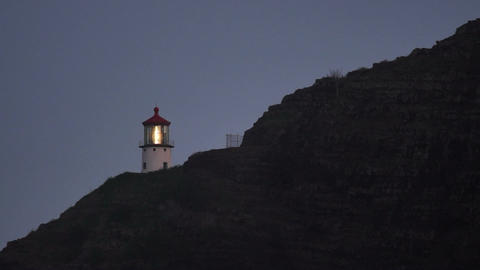 Makapuu Lighthouse Pacific Ocean Hawaii Island Oahu United States Footage