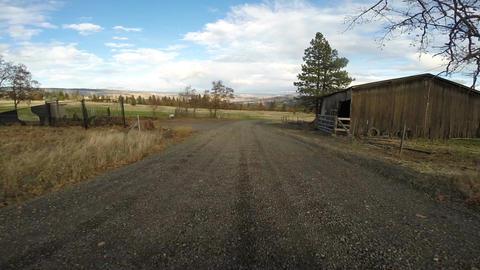 Sunday Drive Oregon Farmland Mountain Gravel Road Above Columbia Gorge Footage