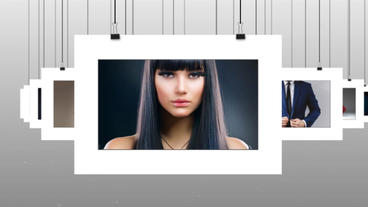 Hanging Photos After Effects Template