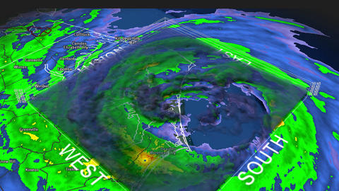 Hurricane Isabel Eye 3D Radar Footage