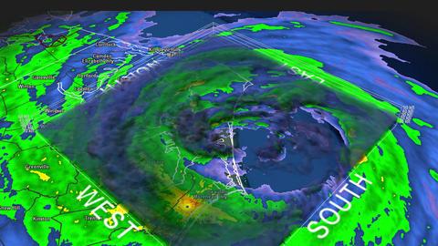 Hurricane Isabel Eye 3D Radar Footage