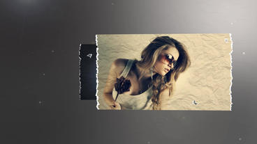 Ragged Paper Slideshow After Effects Template