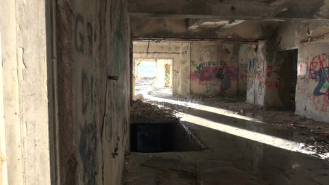 Abandoned Building after the Rain (2) Footage
