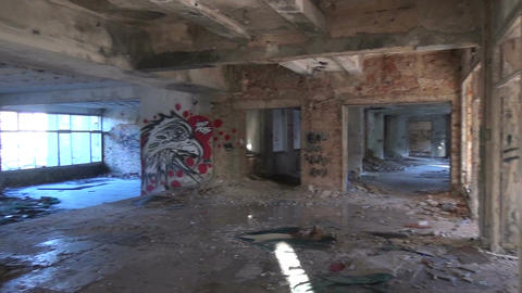 Abandoned Building after the Rain (5) Footage