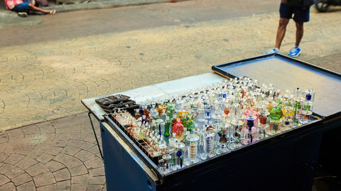 Mobile Counter with Hookah Glass Facilities in Street Footage