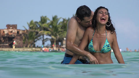 Dating Couple Having Fun On Tropical Vacation Live Action