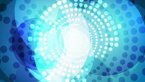 Blue shiny halftone circles video animation Animation