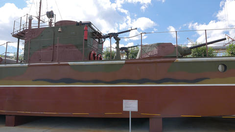 Model armored boats MBK Project 161. Pyshma, Ekaterinburg, Russia Footage