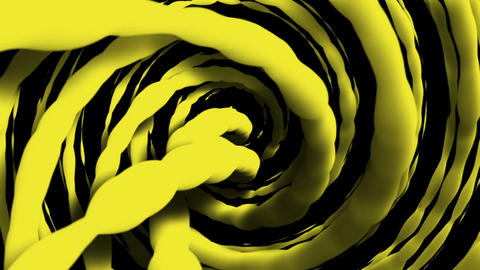 Rotating strings in yellow color Animation