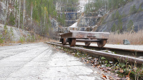 The cart on rails. Russia Footage