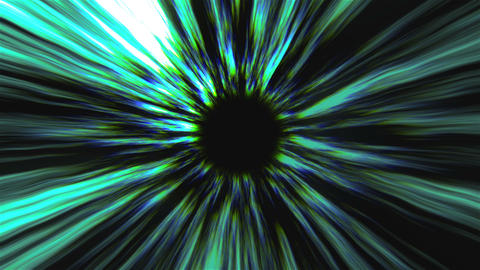 Abstract black hole, time warp, distortion of space, traveling in space, 3d Live Action