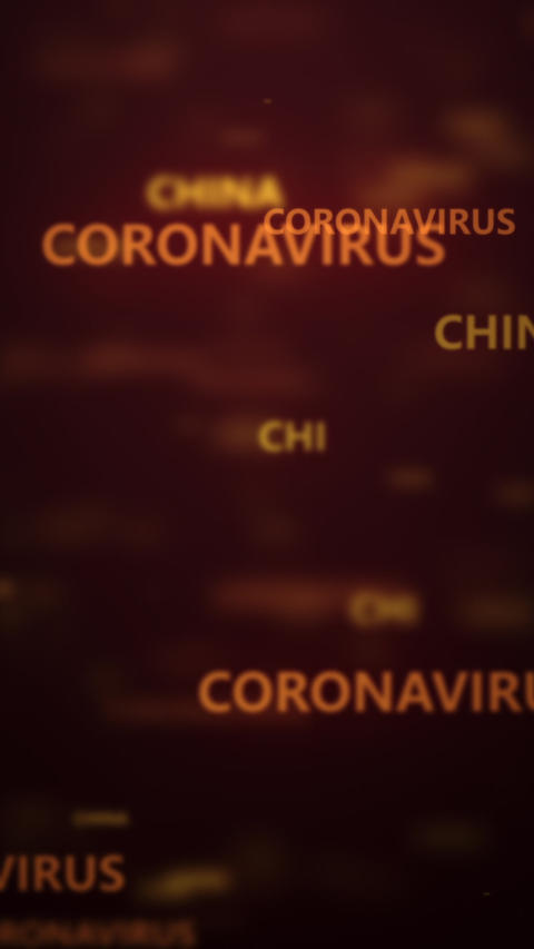 coronavirus dangerous flu background Live Action