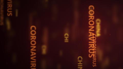 Coronavirus 2019-nCov novel coronavirus concept motion background. coronavirus GIF