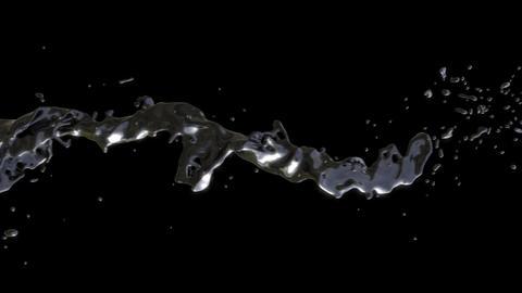 Black Goo Flow Loop Animation
