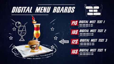 Digital Menu Restaurant After Effects Template