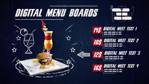 Digital Menu Restaurant After Effects Template