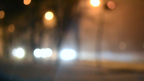 Blurred Background cars ride night background bokeh Live Action