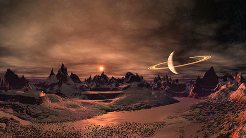 Sunrise on a Mysterious Alien Planet Videos animados
