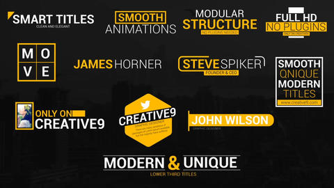 Smooth Titles After Effects Template