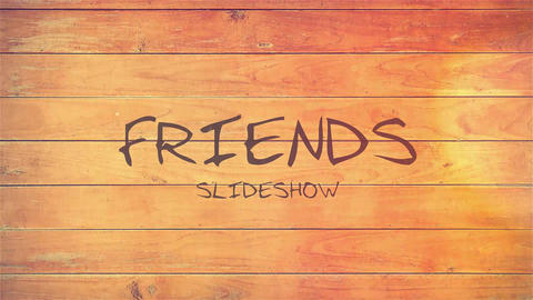 Friends Slideshow After Effectsテンプレート