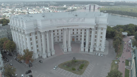 Ministry of Foreign Affairs of Ukraine. Kyiv. Aerial view Live Action