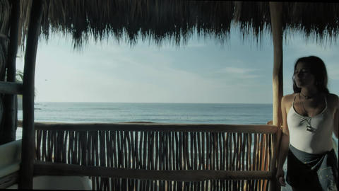 Sea landscape from a porch Live Action