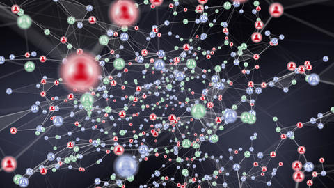 Plexus Social Contacts 3 - Green Blue and Red (infected) Animation