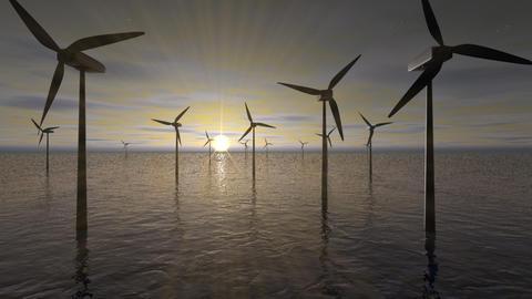 The Wind turbines Animation