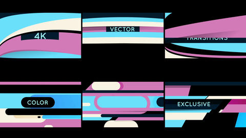 Vector Transitions with titles Motion Graphics Template