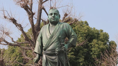 Statue of Saigo Takamori Live Action