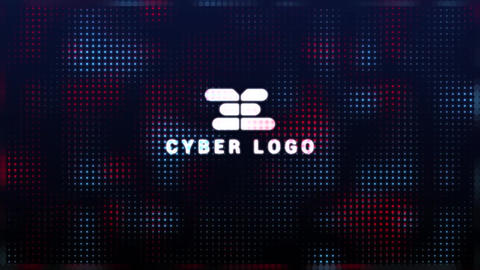 Digital Glitch Logo After Effects Template