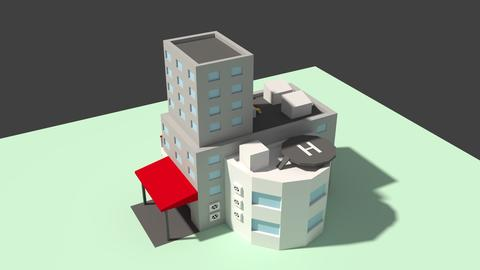 Low Poly Hospital 3D Model