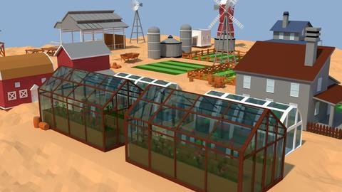 Low Poly Farm Complex