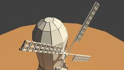 Low Poly Farm Wind Mill 2 3D Model