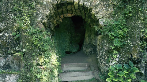 Entrance to the small and old Cave in Europe GIF