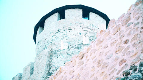 A tower on a castle from the Middle Ages GIF
