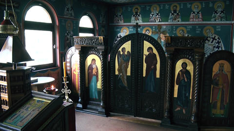 Prayer altar in the orthodox church GIF