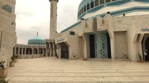 Amman, Jordan - beautiful walls of history King Abdullah Mosque part 11 Live Action