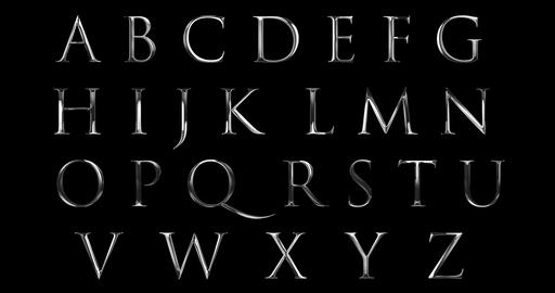 vintage font yellow silver metallic alphabet letters word text series symbol sign on black Live Action