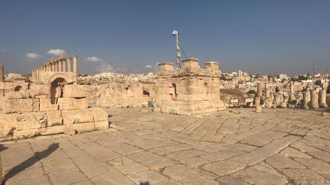 Jerash, Jordan - ancient buildings of ancient civilization part 15 Live Action