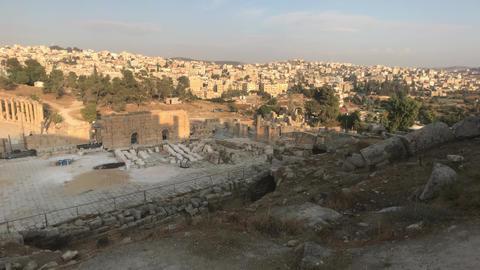 Jerash, Jordan - ruins of an ancient city Live Action