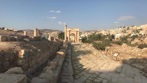 Jerash, Jordan - ancient buildings of ancient civilization part 1 Live Action