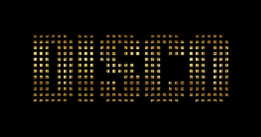 vintage yellow gold metallic disco word text reveal with light reflex on black background, concept Live Action