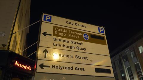 Cityscapes of Edinburgh Scotland - EDINBURGH, SCOTLAND -… Stock Video Footage