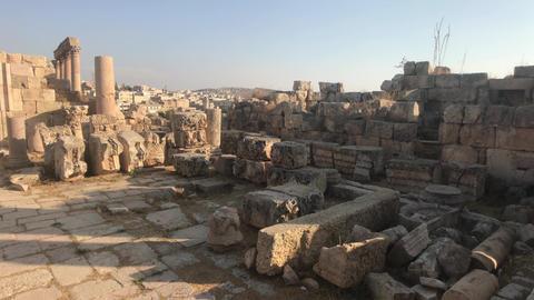 Jerash, Jordan - ancient buildings of ancient civilization part 2 Live Action