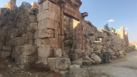 Jerash, Jordan - ancient buildings of ancient civilization part 6 Live Action