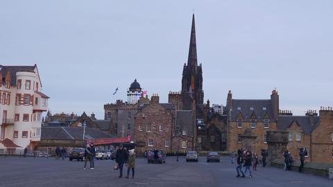 Esplanade at Edinburgh Castle - EDINBURGH, SCOTLAND - JANUARY 10, 2020 Live Action