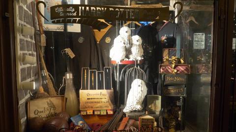 Harry Potter Magic shop in Edinburgh - EDINBURGH, SCOTLAND - JANUARY 10, 2020 Live Action