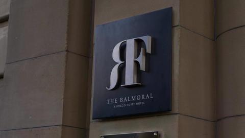The Balmoral Hotel in Edinburgh - EDINBURGH, SCOTLAND - JANUARY 10, 2020 Live Action