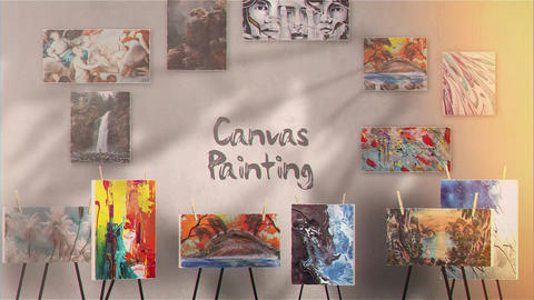 Canvas Painting Gallery After Effects Template